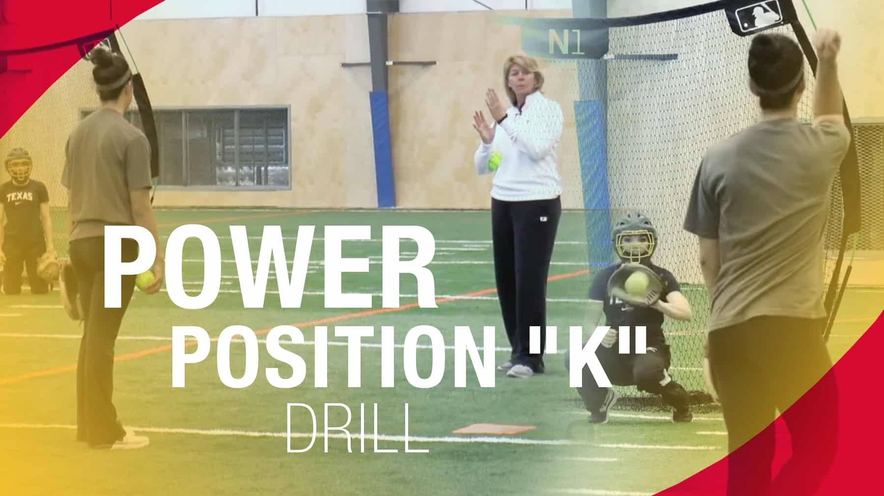 """Pitching: Power position """"K"""" drill"""