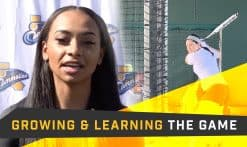 Jazmyn Jackson talks about how to grow and learn from the game of softball
