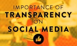 importance of transparency on social media graphic