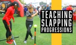 AJ Andrews teaching kids the slapping progression