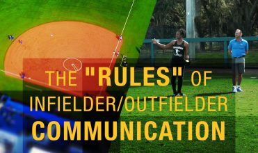 The rules of infielder and outfielder communication