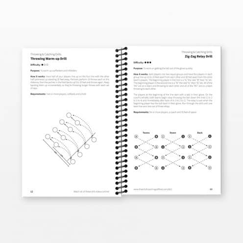 Softball Drill Book Inside Pages